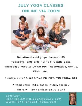 August Online Yoga Class