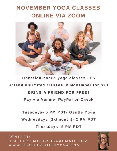 NOvember Online Yoga Class