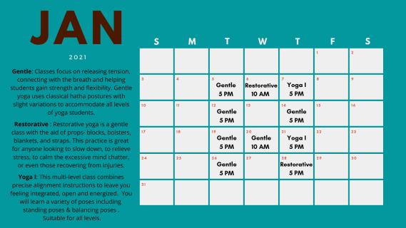 Click the calendar to enlarge class descriptions.