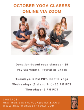 October 2021 Yoga Class